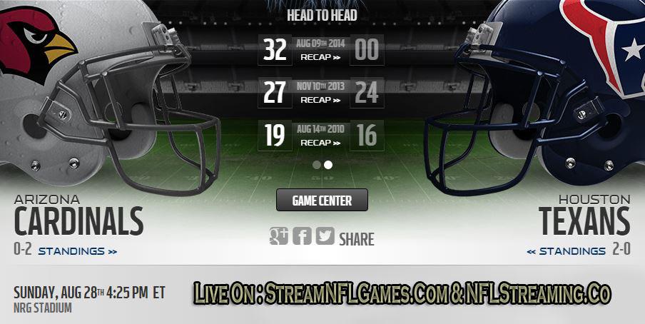 Cardinals vs Texans live stream