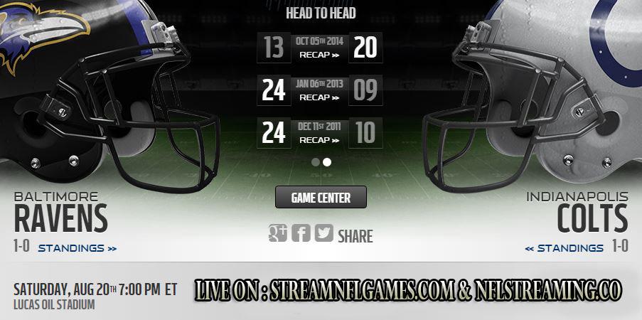 Ravens vs Colts live stream