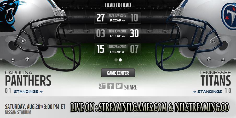 Panthers vs Titans live stream