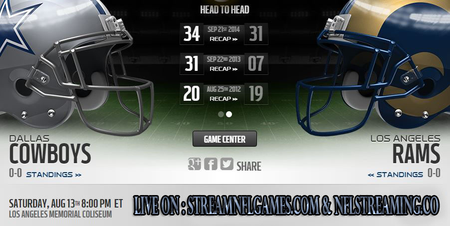 Dallas Cowboys vs Los Angeles Rams live stream