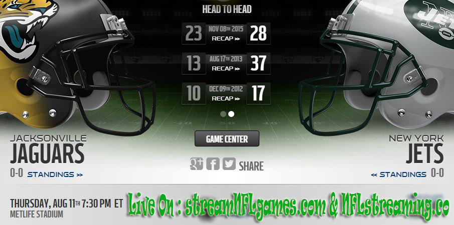 jaguars vs jets game live stream