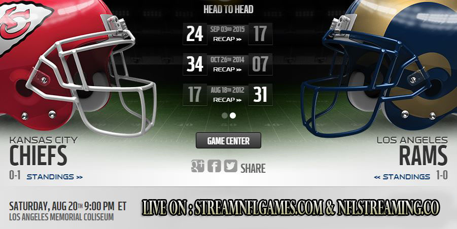 Chiefs vs Rams live stream