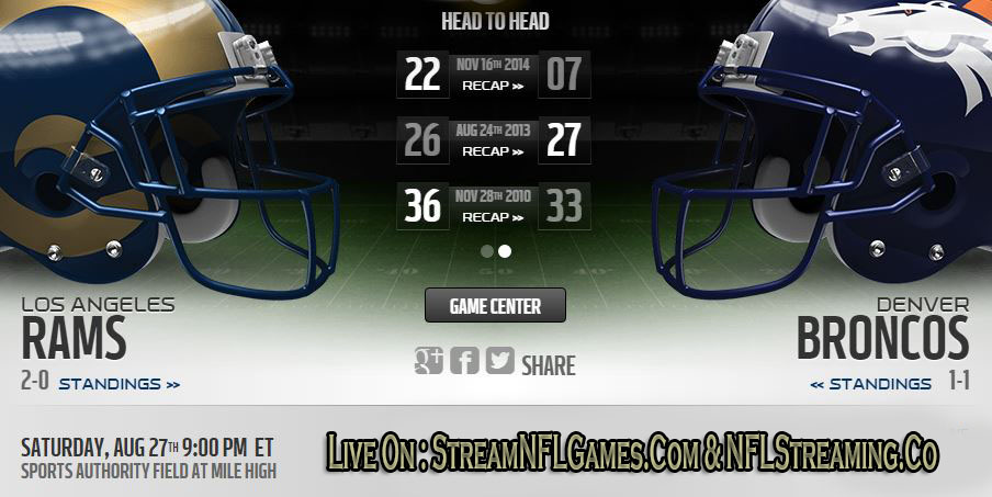 Rams vs Broncos live stream