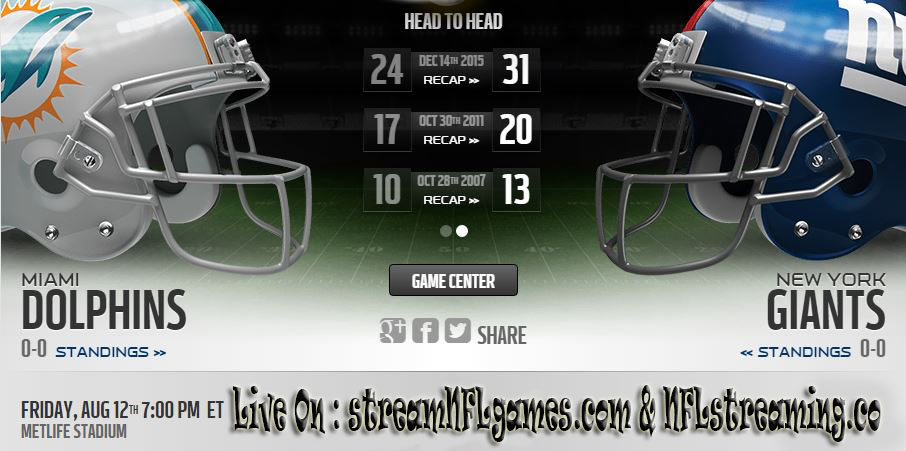miami dolphins vs new york giants live stream