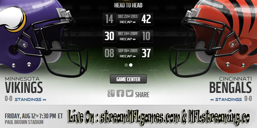 minnesota vikings vs cincinnati bengals live stream