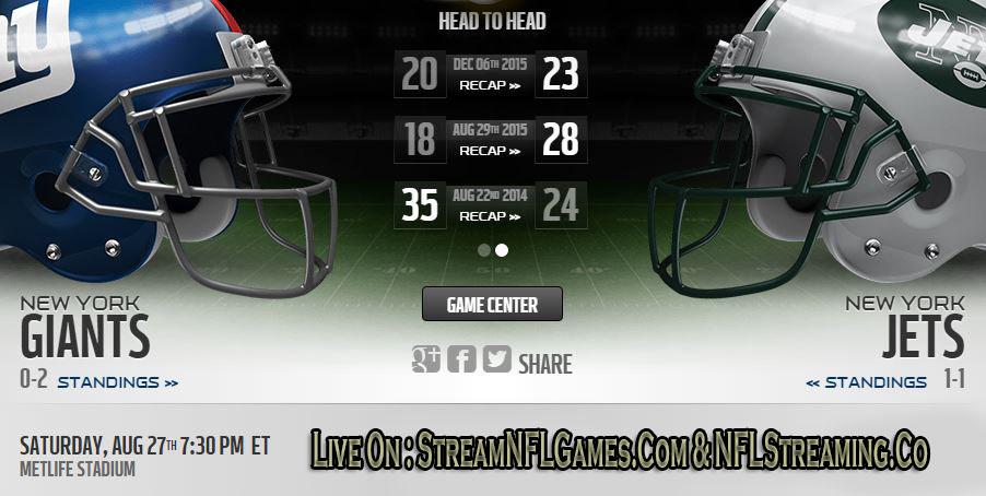 Giants vs Jets live stream