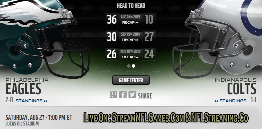 Eagles vs Colts live stream
