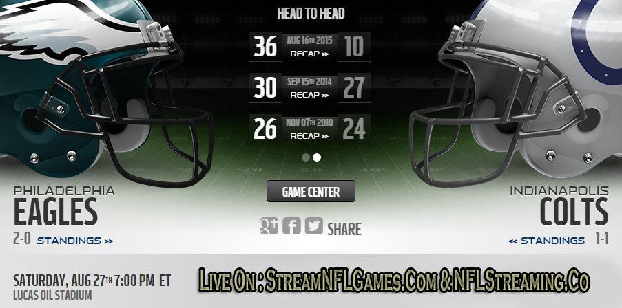 Eagles vs Colts live stream