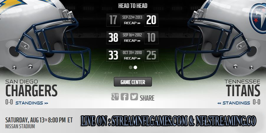San Diego Chargers vs Tennessee Titans live stream