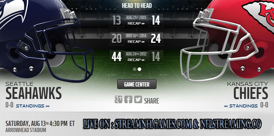 Seattle Seahawks vs Kansas City Chiefs live stream