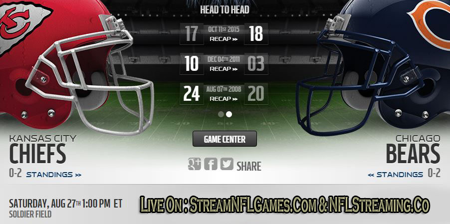 Chiefs vs Bears live stream