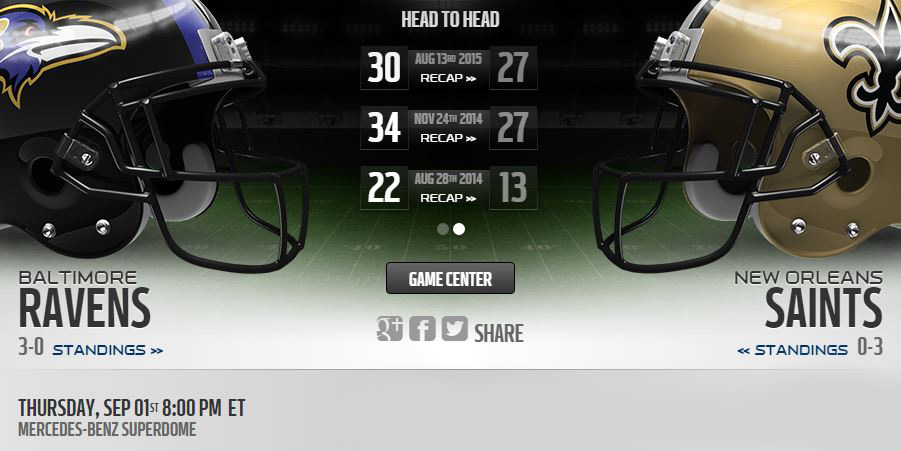 Ravens vs Saints live stream