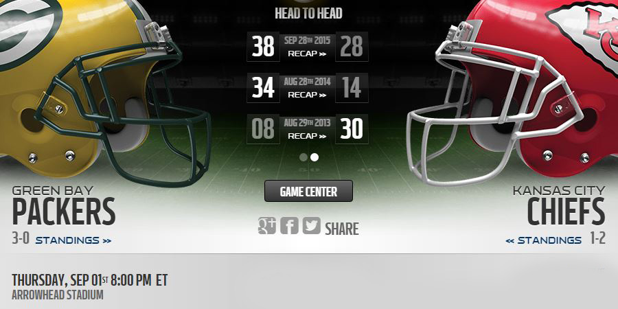 Chiefs vs Packers live stream
