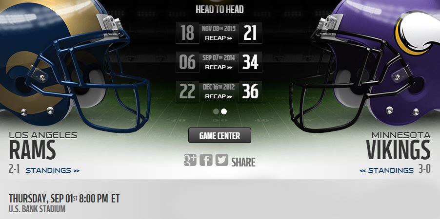 Rams vs Vikings live stream