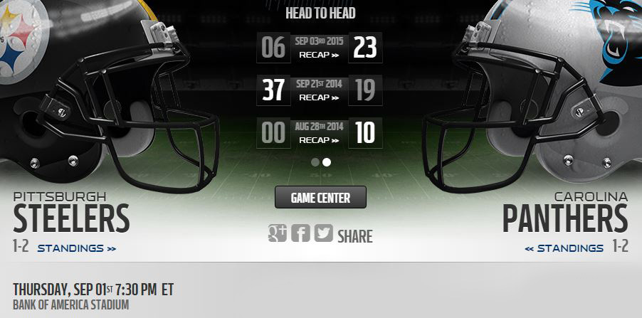 Steelers vs Panthers live stream