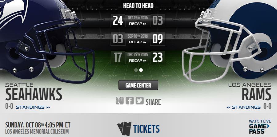 Seahawks vs Rams Live Stream
